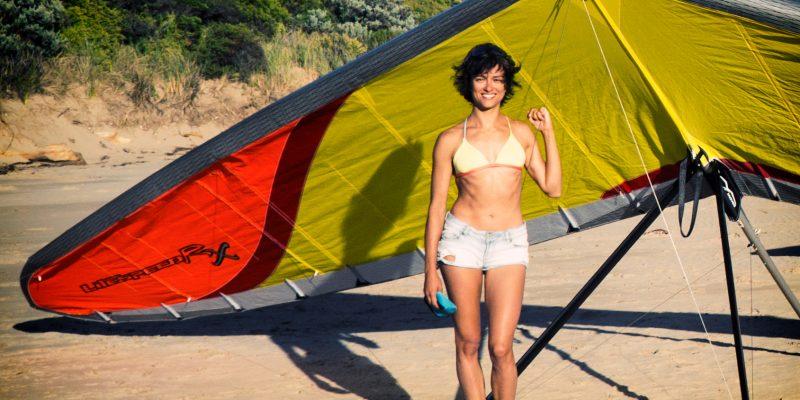 Sasha Moyes Litespeed Swoosh on the beach