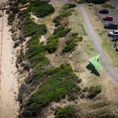 Ocean Grove Hang Gliding Take Off