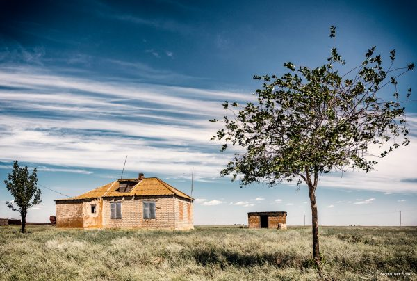 A remote house in the middle of nowhere