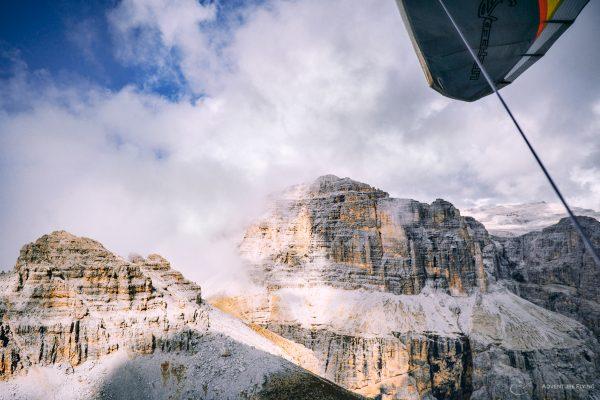 Dolomites Hang Gliging Sella Towers