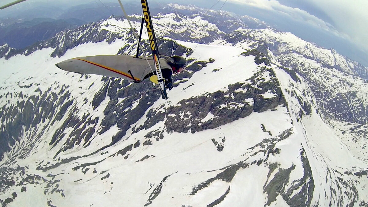 Shots from the flight over the main Alpine chain