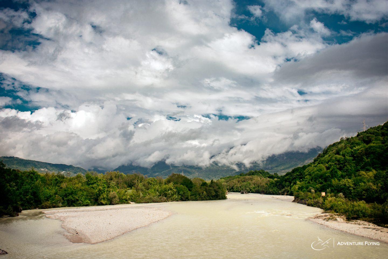 Meduno River after a front