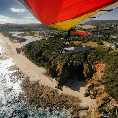 Sasha at Split Point Hang Gliding Fairhaven Victoria
