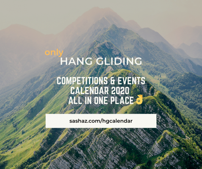 Hang gliding competitions calendar