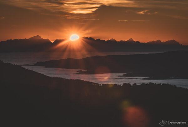 Sunset at Koralpe